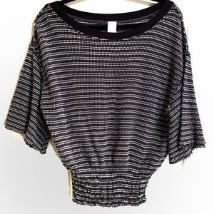 """Free People Tops - NWT Free People """"We The Free"""" Black Striped Top"""